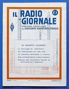 Radiotecnica-Il-Radio-Giornale-Anno-V-N-1-Gennaio-1927