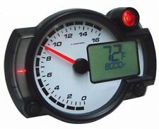 Koso RX2NR Race Track Bike Tacho Rev Counter Shift Light Kit Car