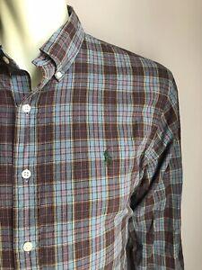 Polo Ralph Lauren Shirt, Huntsman Plaid, X-Large, Classic Fit, Exc Cond