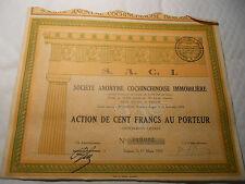 1929 SOCIETE IMMOBILIERE SAIGON @ SUP DECO ORANGE @ COCHINCHINE
