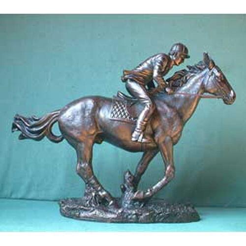 W22 Rabatt-Aktion: Reiter im Galopp, Bronze-Imitation