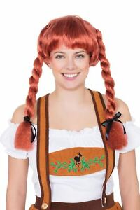 Prix Pas Cher Fraulein Pigtaill Perruque Auburn, Oktoberfest, Robe Fantaisie-afficher Le Titre D'origine