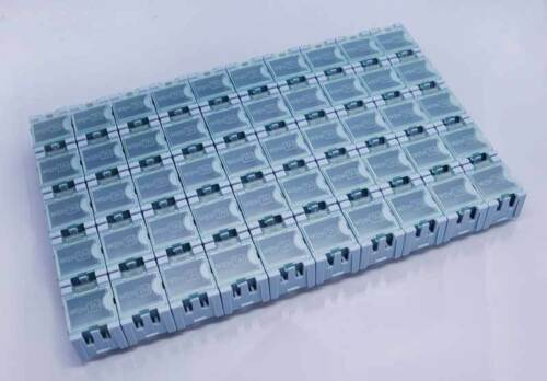 New 50P Plastic Electronic Components Box Laboratory Storage Box 50PCS blue
