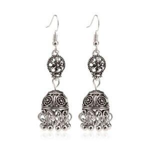 db64ecf82 Image is loading Retro-Indian-Earrings-Floral-Pendant-Jhumka-Drop-Vintage-