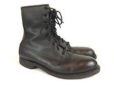 VTG 80's Addison Military Flight Deck Combat Boots Men's 8.5 Black Leather Nice!