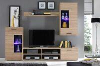 Modern Living Room Furniture Set Tv Unit Led Cabinet Cupboard Wall Shelves