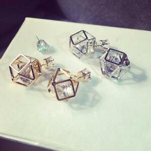 1pair-Women-Double-Hollow-Sides-Crystal-Earrings-Geometric-Gold-Silver-Plated