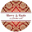 DAMASK-STYLE-PERSONALISED-WEDDING-BIRTHDAY-BUSINESS-STICKERS-CUSTOM-SEALS-LABELS thumbnail 19