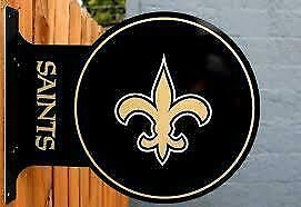New Orleans Saints Double Sided Metal Flange Sign (New) Calgary Alberta Preview