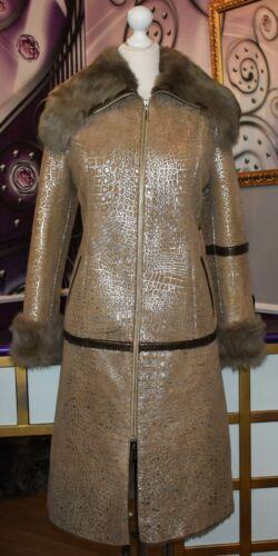 Luxus Designer Damen echter Lammfellmantel m  Toskana  Fell  Gr.38 NEU
