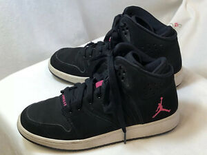 Details about Nike Air Jordan #23 Size 5,5Y Black Leather Sneakers P/O