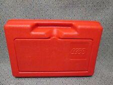 VTG 1982 LEGO Red Plastic Storage Carrying Case Box Bin