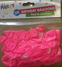 Item 8 WHOLESALE 23 X 20 Pack Of Pink Happy Birthday Balloons Fun Party Bargain Girl