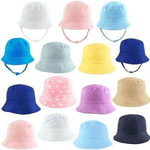 Baby-Sun-Hat-Summer-Beach-Hat-Bucket-Cap-Boy-Girl-Toddler-Kids-Newborn-0-4-Years