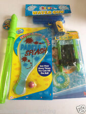 Kids Games Paddle Bat Ball & Crab Line & Bubble Wand & Water Pistol & Swim Ring