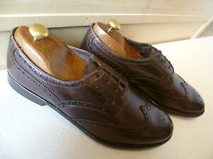 Brogue Italy Paul Brown 42 Derby in pelle Mens Smith 8 Made piena Wingtip In Uk ppI6q