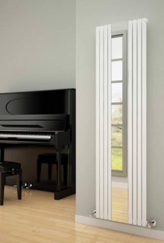 REINA riflettono Designer Verticale Radiatore a specchio RADIATORE in posizione verticale moderno bianco