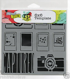 "The Crafter's Workshop 6""x 6"" stencil, Mini Captured, tcw392s"