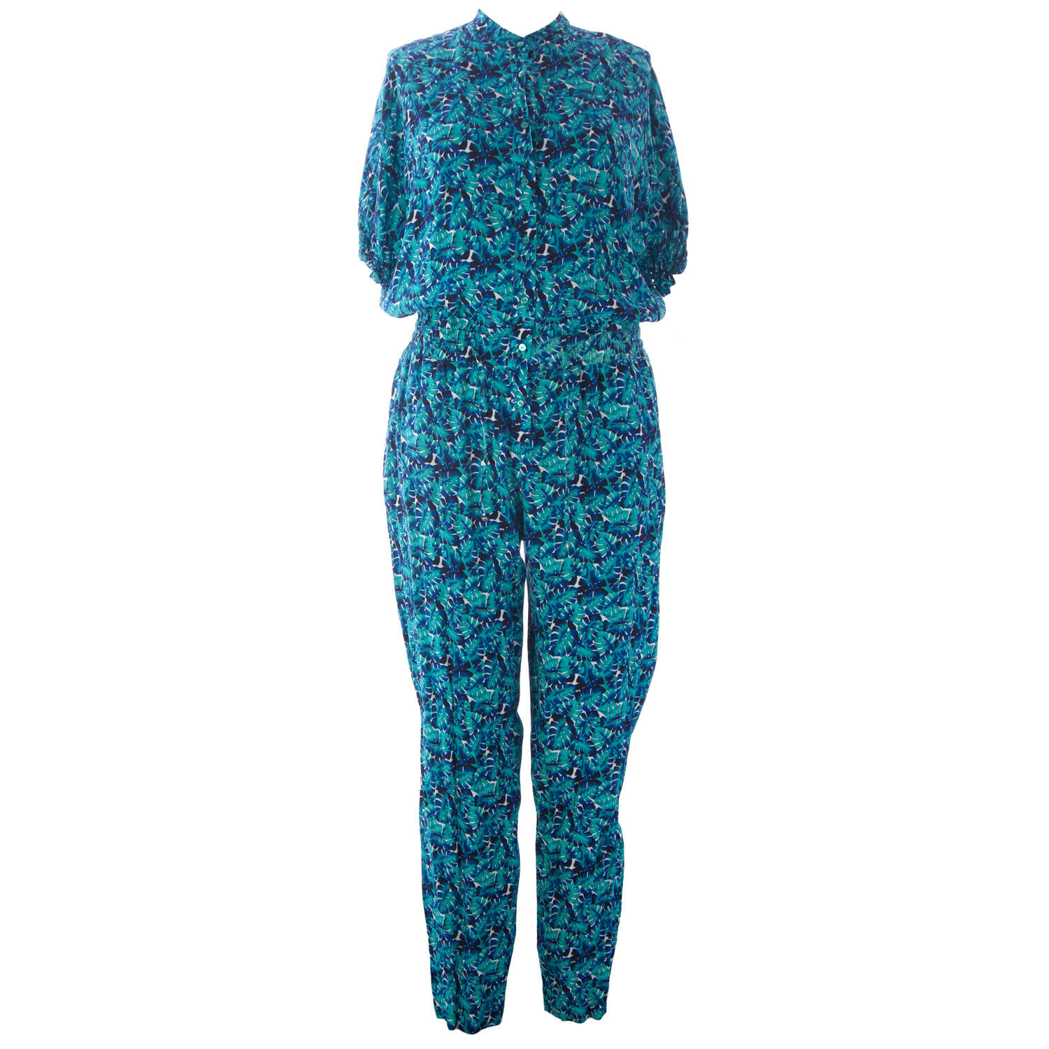 065cded2a2d MARINA RINALDI Women s bluee Falesia Floral Jumpsuit 515 NWT ...