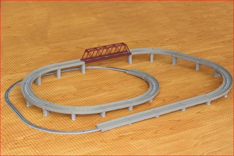 Rokuhan  Z Scale R063 Rail Set D Separation Set  migliore qualità