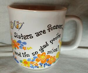 Sisters-Are-Forever-and-I-039-m-so-glad-you-039-re-mine-Flowers-Butterflies-Mug-Cup