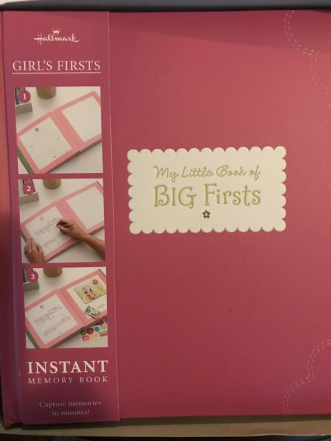 """Hallmark's Girl's First Instant Memory Book-""""My Little Book of Big First NIB"""