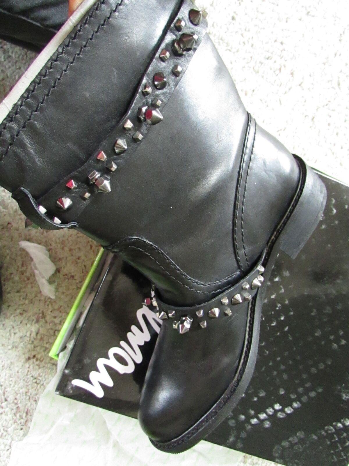 Nueva Sam Edelman Edelman Sam Adele Moto Cuero Negro Botines botas Para Mujer 6 libre Sh 6b2396