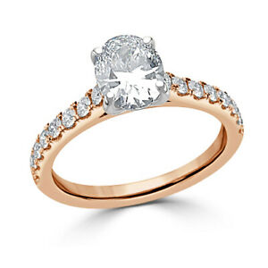 1.30 Ct Solitaire Moissanite Engagement Ring Solid 18K Rose Gold ring Size 9.5