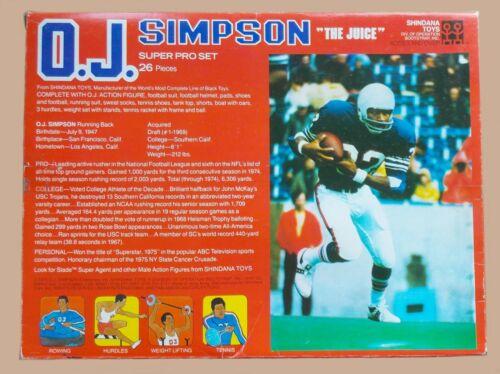 Shindana Football 1975 Simpson Oj Variante Rare Super Figure Mib Pro Set 10 SSXBq