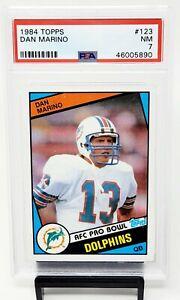 1984-Topps-HOF-Miami-Dolphins-DAN-MARINO-Rookie-Football-Card-PSA-7-Near-MINT