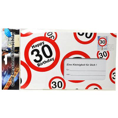 30Geburtstag Geschenk Geburtstagskarte Happy Birthday Geldgeschenk Geldkarte