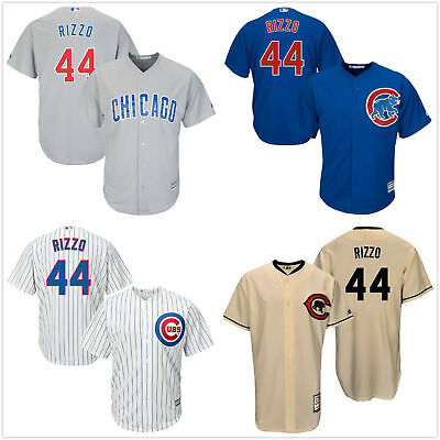 timeless design eab39 eb829 Men's #44 Anthony Rizzo Chicago Cubs Cool Base Jersey  White/Royal/Gray/Cream | eBay