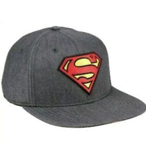 New Batman Hat DC Comics Rebirth Logo Mens One Size Flex Cap OSFM Gray