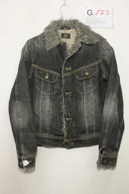Giacca Lee Furry Jacket (Cod. G174) Tg.L jeans USATO Donna imbottito Vintage