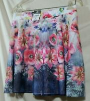 Rue 21 Skirt Junior Womans Size Medium Floral Lined