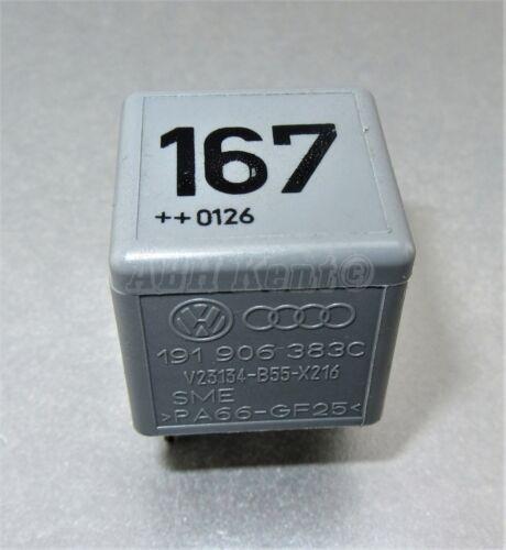 Audi VW Ford 4-Pin Grey No:167 Fuel Pump Relay 191906383C V23134-B55-X216 33