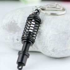 Black Alloy Adjustable Coilover Spring Car Part Shock Absorber Keyring Keychain Fits Kia Soul