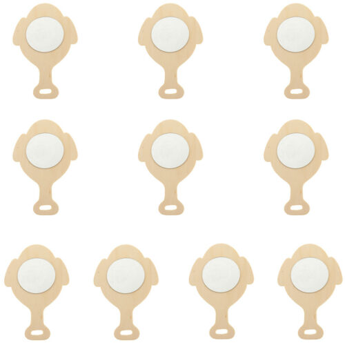 10//8pcs Blank Unfinished Wood Mirror for Kids DIY Crafts Woodcraft Handmade Toys
