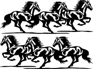 running horses vinyl car decals truck or trailer stickers 2 30 x Green Horse Trailers image is loading running horses vinyl car decals truck or trailer