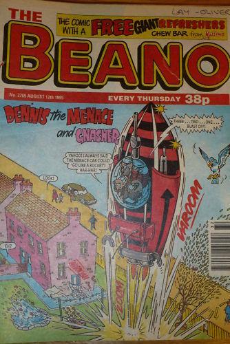 Date 12//08//1995 Issue No 2769 The BEANO Comic UK paper comic