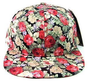 9f6e7c14bc0 HAWAIIAN PRINT SNAPBACK HAT CAP FLAT BILL FLORAL HAWAII FRESH PRINCE ...