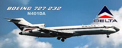 PMT1634 Delta Air Lines 1980 Color Scheme Boeing 757-232 Handmade Photo Magnet
