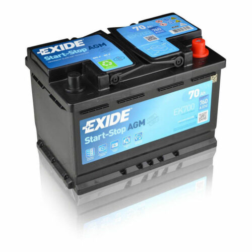 Exide EK700  12V 70Ah 760CCA  AGM VRLA Car Battery FORD 9M5N10655AA