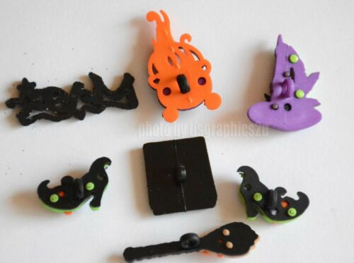 Witch/'s Spell Halloween Buttons Broom Jesse James Dress It Up Witch Hat