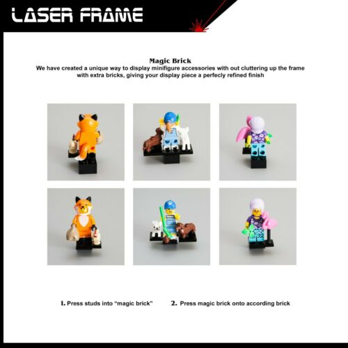 DC Comics Super Heroes Series Acrylic Display Case Frame for LEGO Minifigures