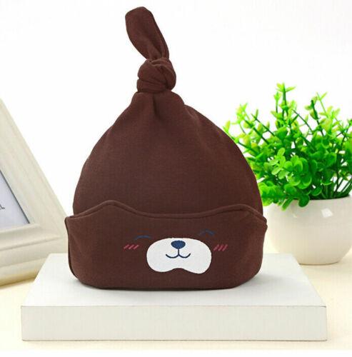 Unisex Newborn Baby Boy Girl Toddler Infant Cotton Cute Hat Beanie Soft Cap O2Z4