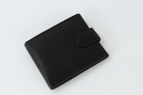 Nouveau RFID homme noir marron véritable cuir souple deux volets de Luxe carte de crédit Portefeuille