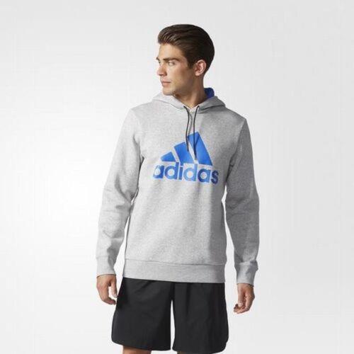 L Grey RRP £45 BNWT adidas Performance Sport Essentials Logo Hoodie Sizes S
