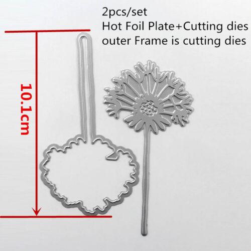 Christmas Flower Letter Metal Cutting dies Hot Foil Plate Diy Crarfts Paper Card
