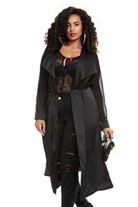 Fashion-To-Figure-Women-039-s-Plus-Size-Sofia-Satin-Duster